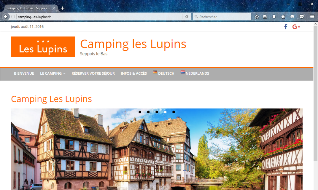 Site Web Multilingue Camping