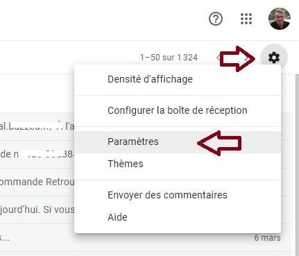 Parametres Gmail
