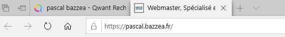 SEO, Titre de la page dans la barre du navigateur